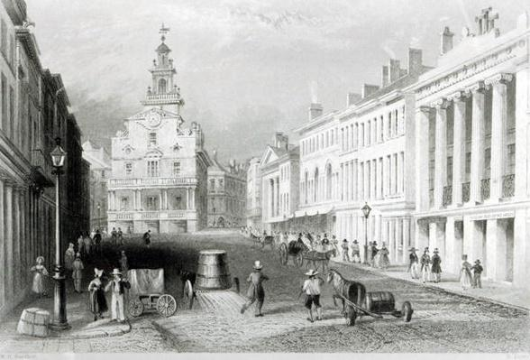 State Street, Boston,engraved by S.Lacey