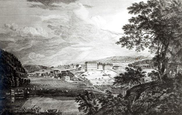 A View of Bethlem the Great Moravian Settlement in the province of Pennsylvania from 'Scenographia Americana', 1768