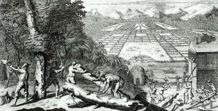 Illustration from 'The Reasons for establishing the Colony of Georgia' by Benjamin Martyn