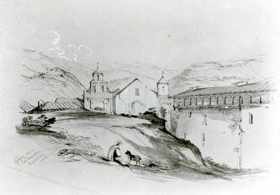 The Church of San Francisco, Valparaiso, 1834