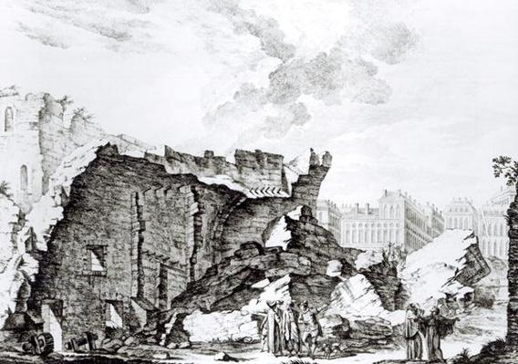 Tower of San Roque, Lisbon after the earthquake of 1755