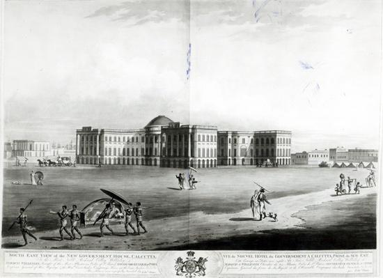 South East View of the New Government House, Calcutta