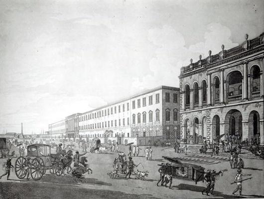 The Mayor's Court and Writers' Building, Calcutta, 1786