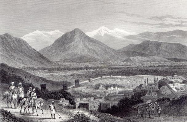 Cabul from the Bala Hissar, engraved by J. Stephenson, c.1870