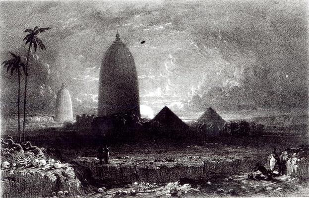 Jagannath Temple, engraved by A. Picken, 1837