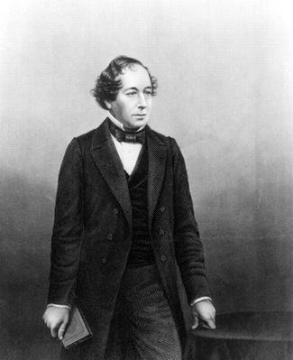 Benjamin Disraeli,engraved by D.J.Pound from a photograph