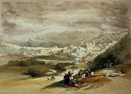 Hebron, 18th March 1839 from Volume II of 'The Holy Land'; engraved by Louis Haghe