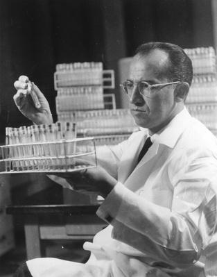 Salk At Work | Famous Scientists
