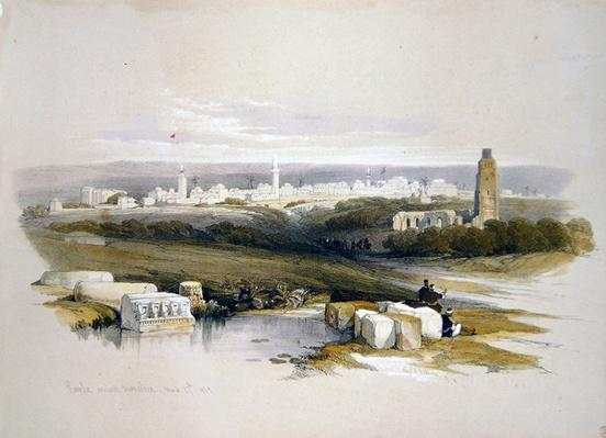 Ramla, from 'The Holy Land', engraved by Louis Haghe