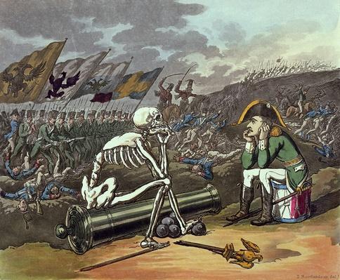 Napoleon and skeleton, 18th