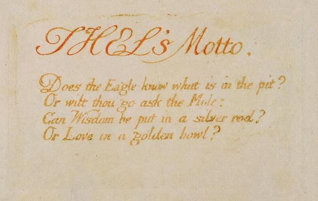 'Thel's Motto..., plate 2 from 'The Book of Thel', 1789