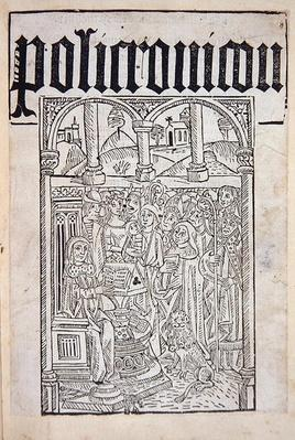 Title Page from the 'Polychronicon' by Ranulf Higden