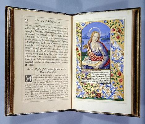 Page depicting a Portrait of St. John, from 'The Art of Illumination and Missal Painting', London 1849