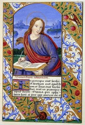 Portrait of St. John, from 'The Art of Illumination and Missal Painting', London 1849