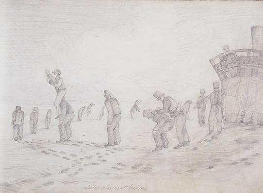 Sailors Playing at Leap Frog, from 'Sketches of the Second Parry Arctic Expedition', 1821-2