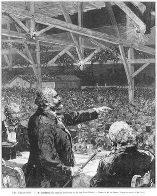 Leon Gambetta a la reunion electorale de la rue Sainte-Blaise, c.1879