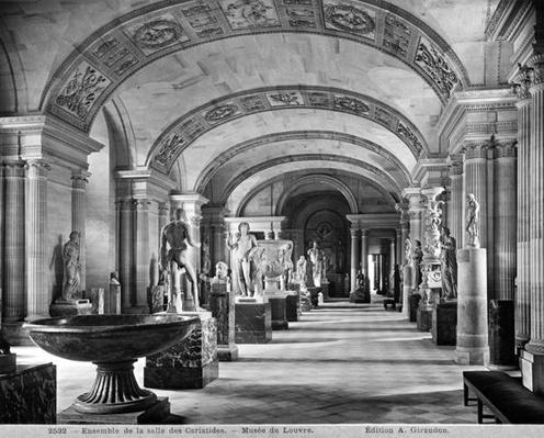 View of the Caryatids' room in the Louvre Museum, c.1900-04
