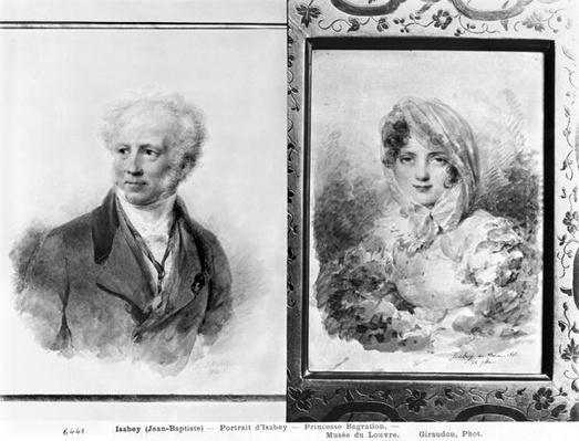 Self portrait and portrait of Princess Bagration, 1841 and 1812