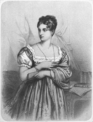 Mademoiselle George, engraved by J. Champagne