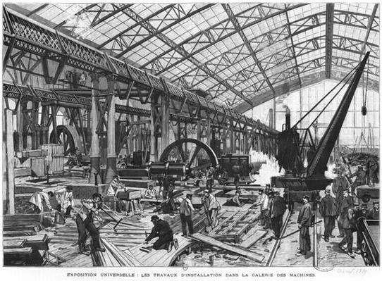 Building site of the Galerie des Machines at the Universal Exhibition of 1889, Paris, April 1889