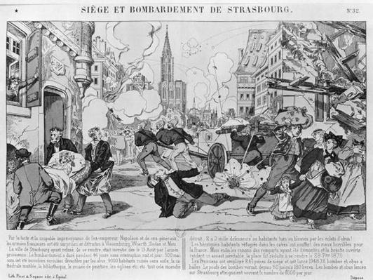 Bombardment and siege of Strasbourg on the 3rd August 1870, 1870
