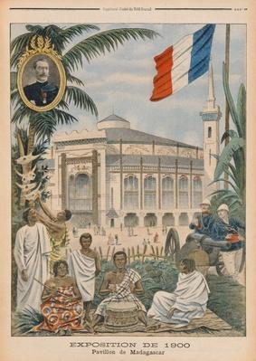 The Malagasy Pavilion at the Universal Exhibition of 1900, Paris, illustration from 'Le Petit Journal', 1st April 1900
