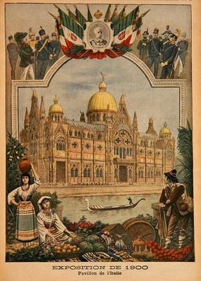 The Italian Pavilion at the Universal Exhibition of 1900, Paris, illustration from 'Le Petit Journal', 29th April 1900