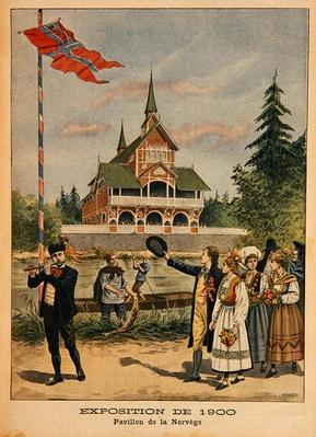 The Norwegian Pavilion at the Universal Exhibition of 1900, Paris, illustration from 'Le Petit Journal', supplement illustre, 13th May 1900