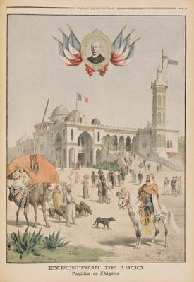 The Algerian Pavilion at the Universal Exhibition of 1900, Paris, illustration from 'Le Petit Journal', supplement illustre, 10th June 1900