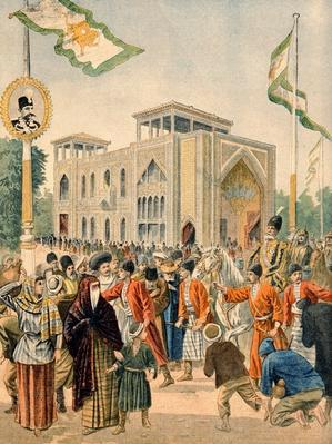 The Persian Pavilion at the Universal Exhibition of 1900, Paris, illustration from 'Le Petit Journal', 17th June 1900