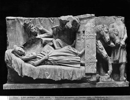 The dream of the Magi, from the Cathedral of Chartres