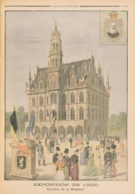 The Belgian Pavilion at the Universal Exhibition of 1900, Paris, illustration from 'Le Petit Journal', 8th July 1900