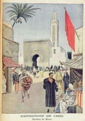 The Moroccan Pavilion at the Universal Exhibition of 1900, Paris, illustration from 'Le Petit Journal', 23rd September 1900