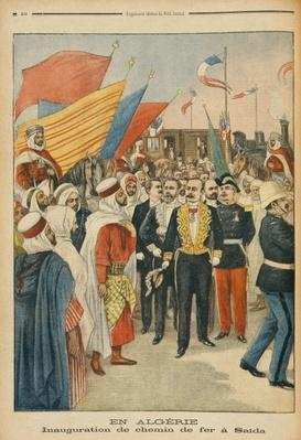 Opening of the Saida railway in Algeria, illustration from 'Le Petit Journal', 18th February 1900