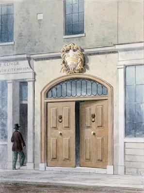 The Entrance to Coachmakers Hall, 1854
