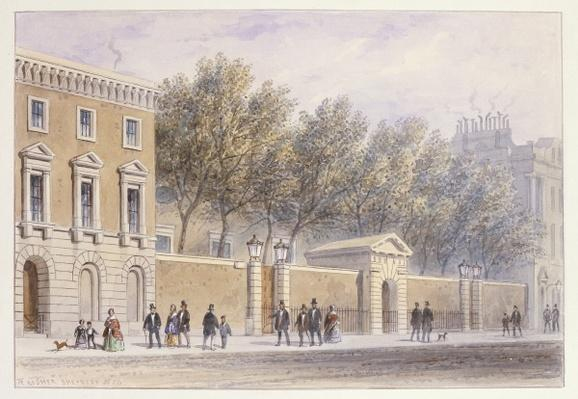 The New Entrance to Grocers' Hall, 1854
