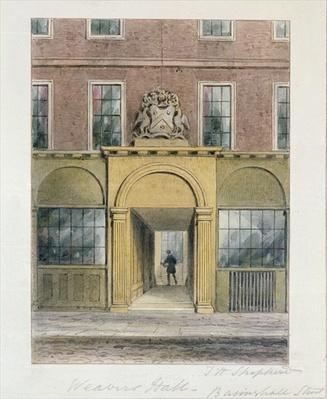 The Entrance to Weavers Hall, 1854