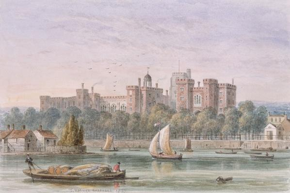 View of Lambeth Palace from the Thames, 1837