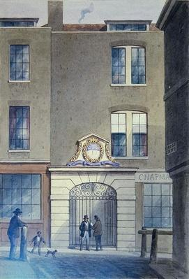 The Entrance to Bakers'Hall, 1855