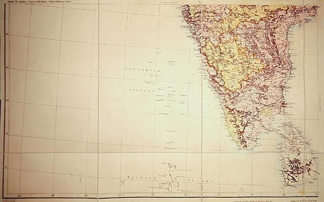 Map of Southern India, 1898