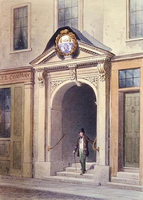 The Entrance to Butchers' Hall, 1855,