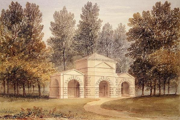 The Pavilion in Kensington Gardens, 1828