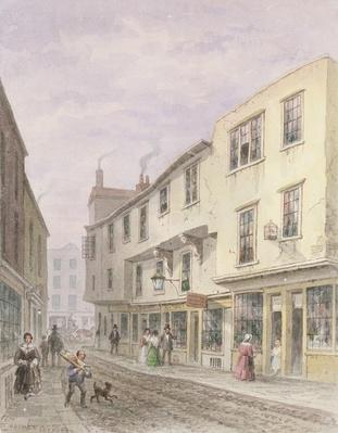 Old House at the Entrance to Leather Lane, 1857