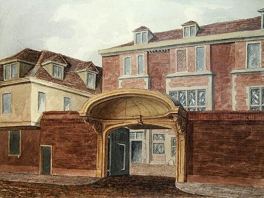 Entrance to Old Winchester House, 1839