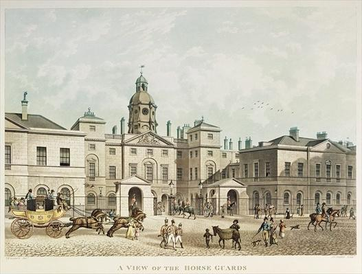 A view of the Horse Guards from Whitehall engraved by J.C Sadler