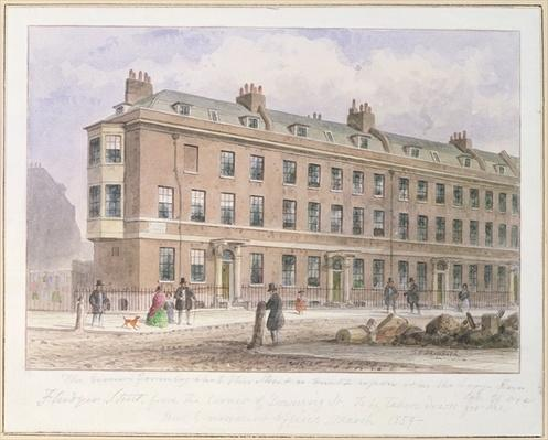 View of Fludyer Street looking towards Parliament Street, 1859