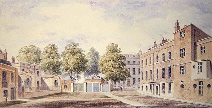 View of Whitehall Yard, 1828