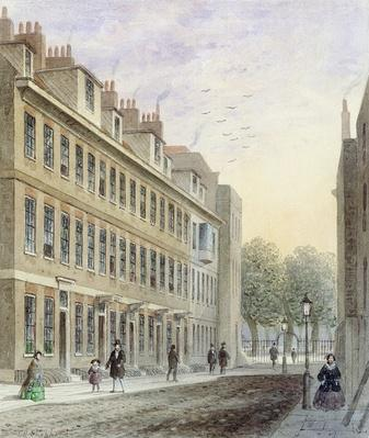 View of Fludyer Street, looking towards St. James's Park, 1859