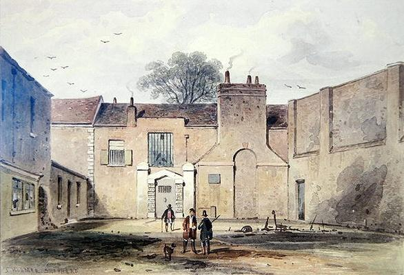 Entrance to Tothill Fields Prison, 1850