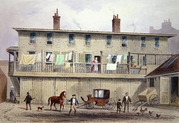 The Old Vine Inn, Aldersgate Street, 1855